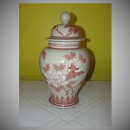 Floral Blossom Ginger Jar with Lid - b129