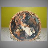 Knowles Rockwell's Rediscovered Women ''Dreaming in the Attic'' Plate - b131