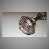 Amethyst Sun Glass Door Knob Set - b130