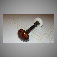 Wood Grain Porcelain Doorknob Set - b130