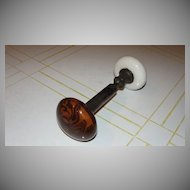 Wood Grain Porcelain Doorknob Set - b130