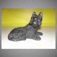 Take Him Home Black Scottie Dog Figure with Glass Eyes by Universal Statuary - b134