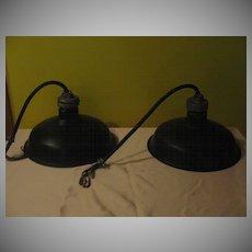 Industrial Vintage Hubbell Lighting Fixtures - G