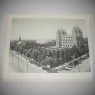 The Mormon Temple - Photogravure