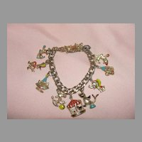 Send in the Clowns Circus Charm Bracelet - Free shipping