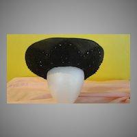 Black on Black Beaded Jack McConnell Hat