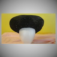 Black on Black Beaded Jack McConnell Hat