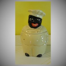 Pearl China Black Americana ''Cooky'' Chef Cookie Jar - b141