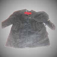 Little Gent Toddler Boy Coat, Hat and Bow Tie
