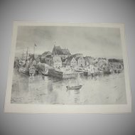 Old New York Photogravure from original Drawing by Henry Sandham