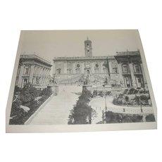 Piazza Del Campidoglio Photogravure