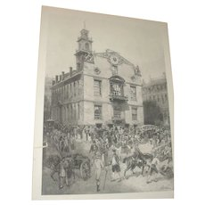 Boston in the Olden Time Photogravure from painting by Henry Sandham