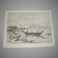 Alaska Seal Fisheries Etching by James Fagan