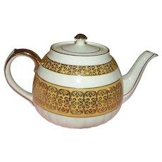 Sadler Gold on Gold Band tea Pot - b139