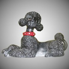 Black Poodle Atlantic Mold Figure - b163