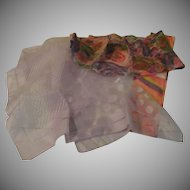 Pink and Lavender Trio of Scarfs - Free shipping - b143