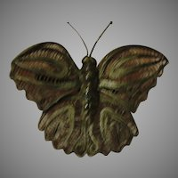 Silvery Butterfly Pin Made in Mexico - Free shipping