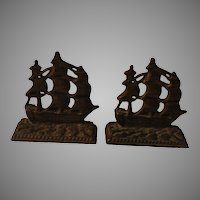 Constitution Tall Ship Book Ends - b144