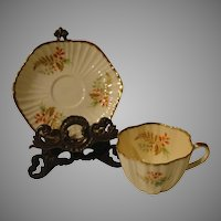 Foley Hexagonal Tea Cup and Saucer #4057 - b143