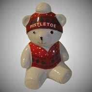 Marshall Field's Mistletoe Bear Cookie Jar - g