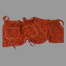 Red racked and Bound Aprons - l2
