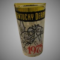 Churchill Downs 1975 Kentucky Derby Glass - b148