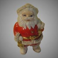 Bell Ringing Santa with Spaghetti Trim Bank - b151