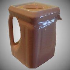 Hall Pink Art Deco cube Tea Pot - b152