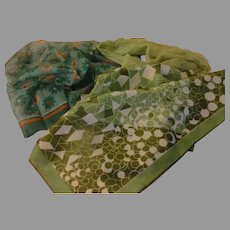 Green, Greener and daisy Scarfs - b157