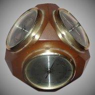 Wooden Swivel Desktop Thermometer Barometer and Hydrometer - b157