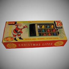 Advertised in Life 25 Light Outdoor Christmas Light Set - b163
