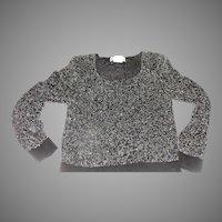 Get the Scoop Neck Black Beaded Sweater - b160