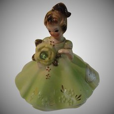 August Peridot Birthstone Figure by Josef - b159 -