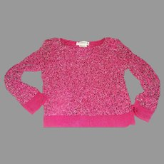 Hot pink Beaded Sweater - b160