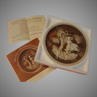 "Incolay Romantic Poets Collection Plate ""She was a phantom of Delight'' - b165"