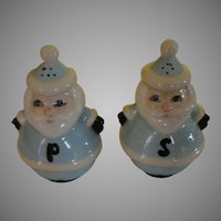 Baby Blue Santa salt and Pepper Shakers - b166