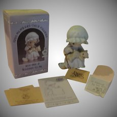 Precious Moments 1990 Members Only Figure ''You Are a Blessing to Me'' - b162
