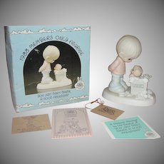Precious Moments 1988 Member Only Figure ''You Just Can't Chuck a Good Friendship'' BM882 - b162