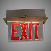 Lighted Red Letter Exit Sign - b166