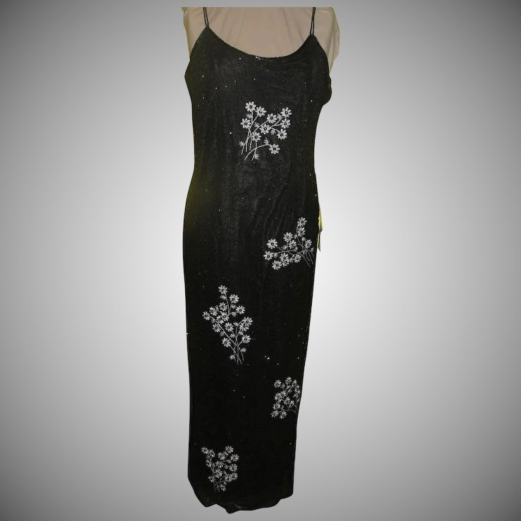 Silver Flowers Black beaded Dress/gown : Hodge Podge Lodge - 1 ...