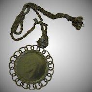 Bicentennial Eisenhower Silver Dollar Pendant in Looped Frame - Free shipping
