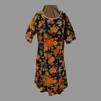 Angel Wing Flower Print A-line Dress