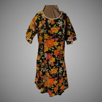 Angel Wing Flower Print A-line Dress