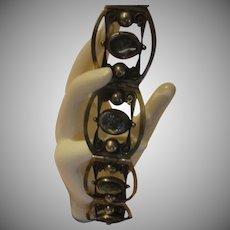 Abalone Hinged Silver Bracelet - Free shipping