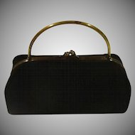 Hard Body Black Evening Bag - b166