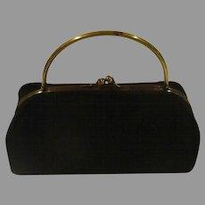 Hard Body Black Evening Bag - b166