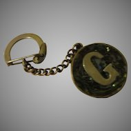G is for ... Abalone Keychain - Free shipping