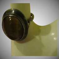 Tiger Eye in Silver Ring - Free shipping