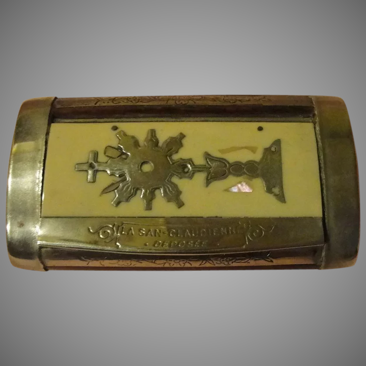 French Silver Plate Snuff Box : Hodge Podge Lodge - 1 | Ruby
