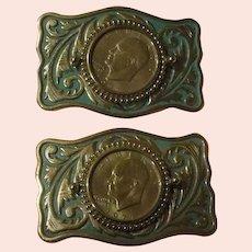 Eisenhower 1977 Silver Dollar Belt Buckle - Free Shipping